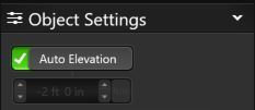 Auto Elevation Setting