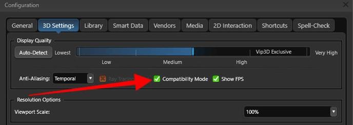 Compatibility Mode Option