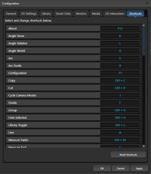 Configuration Shortcuts