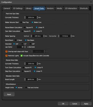 Configuration Smart Data Tab