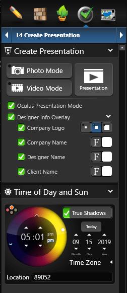Create Presentation Settings
