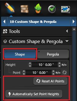 Custom Shape Reset Points