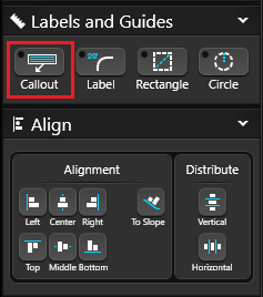 Labels Guides and Align Callout