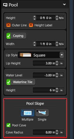 Multiple pool slopes