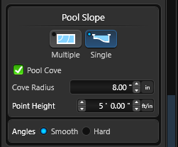 Single slope pool height