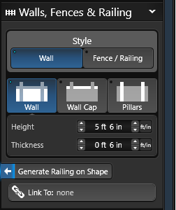 Walls Stage Options