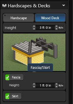 Wood Deck Fascia Skirt
