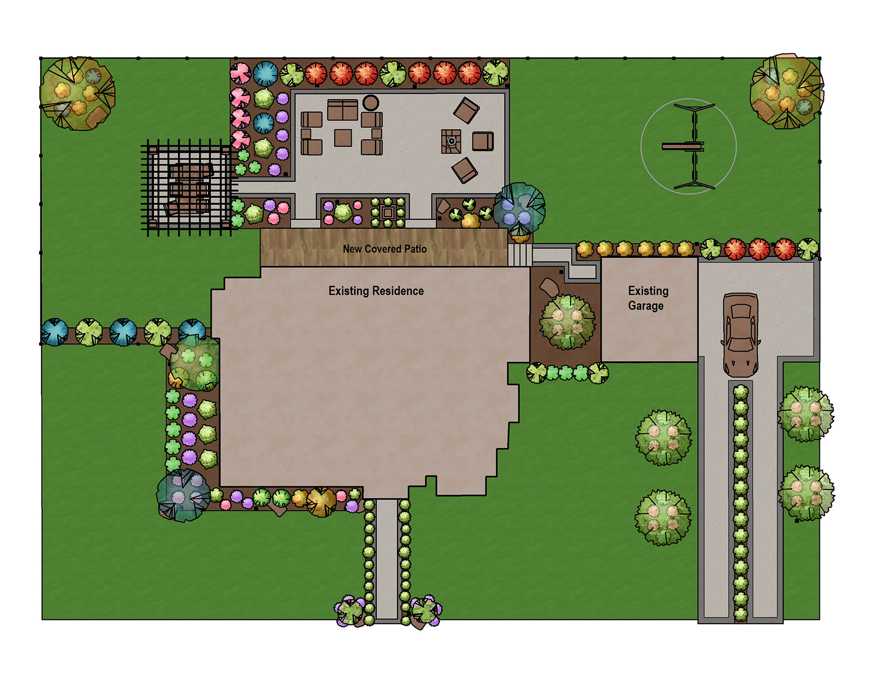 Construction Plan with Modern Fill Patterns