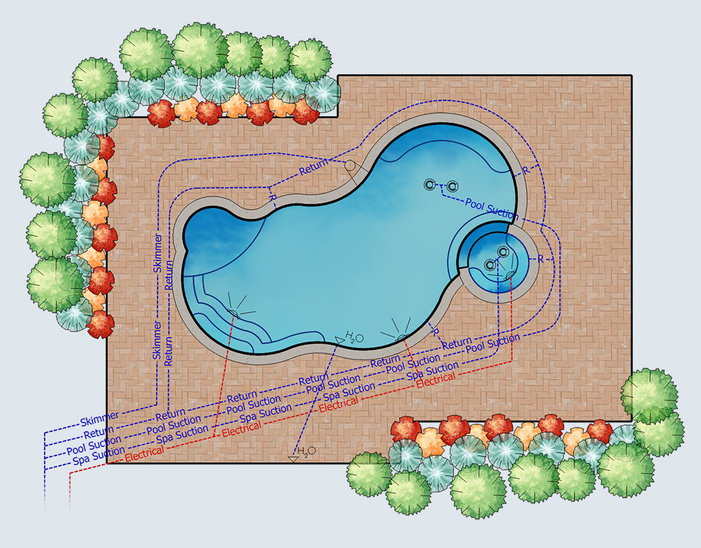 Pool and Landscape Design Measurements - Vip3D