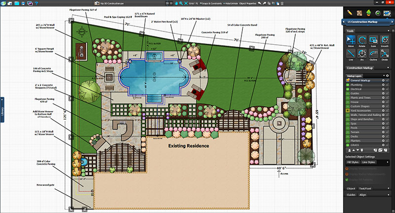 Pool Design Software Construction Plan