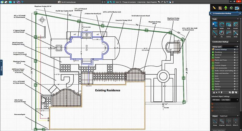 Garden Design Software Construction Plan