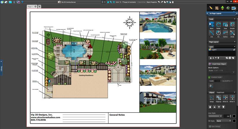Landscape Design Software Construction Plan