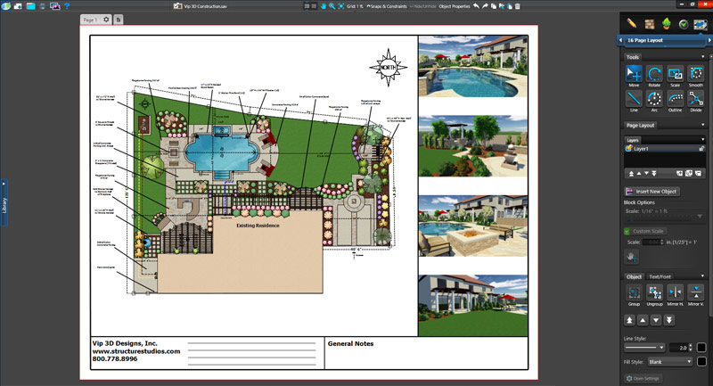 Landscape Design Software Construction Plan