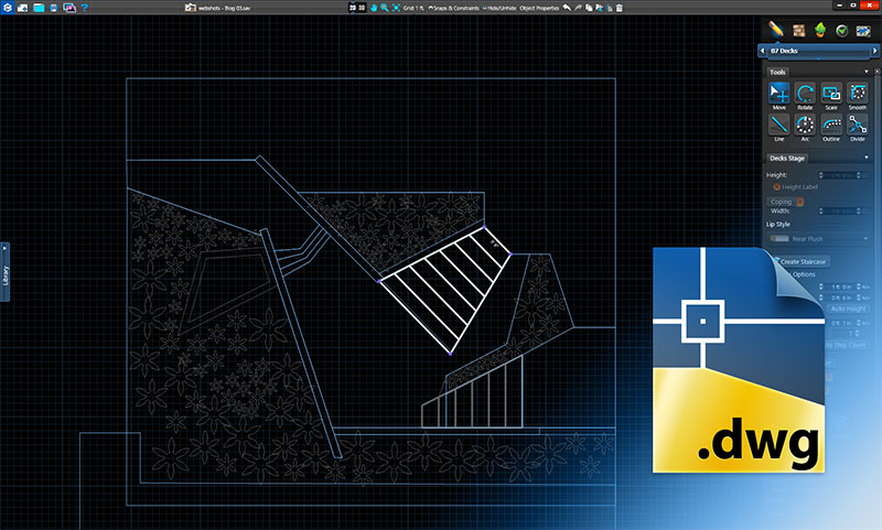 Import AutoCAD in Vip3D Pool and Landscape Design Software Construction Plans