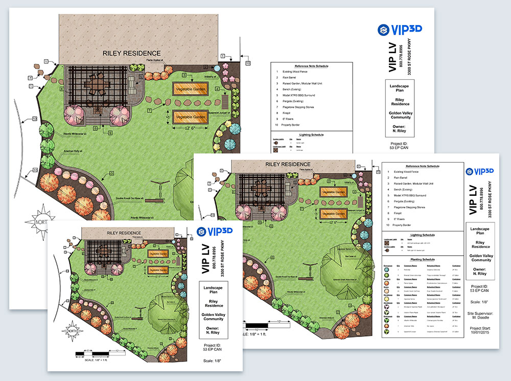 Construction Plans in Landscape Design Software - Vip3D