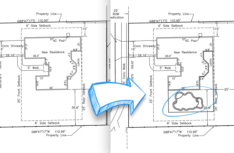 Pool and Landscape Design Software Print on Site Plans