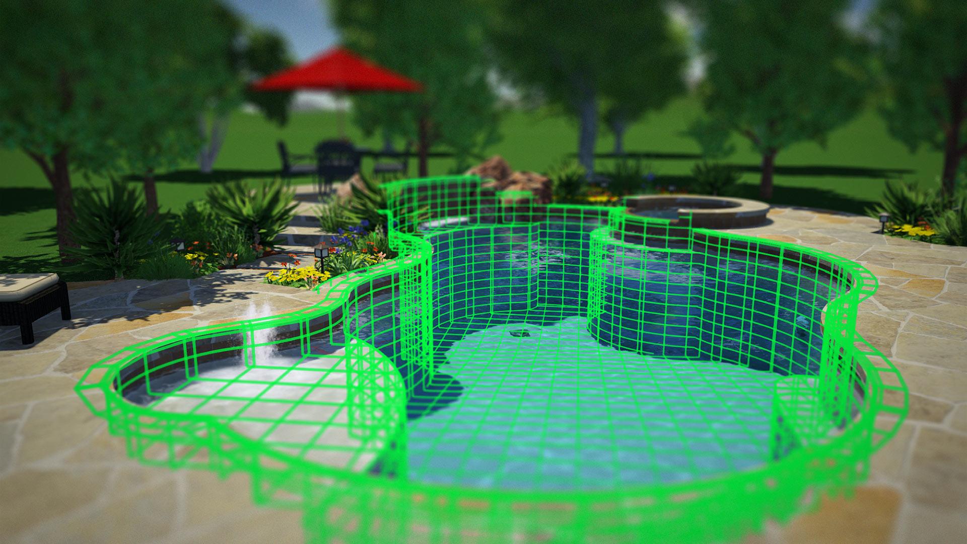 Construction planning software outdoor living design for Pool design software