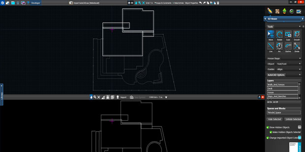 Landscape Design Software Import drawings from Autocad