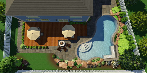 3d pool and landscaping design software features vip3d for Pool drawing software