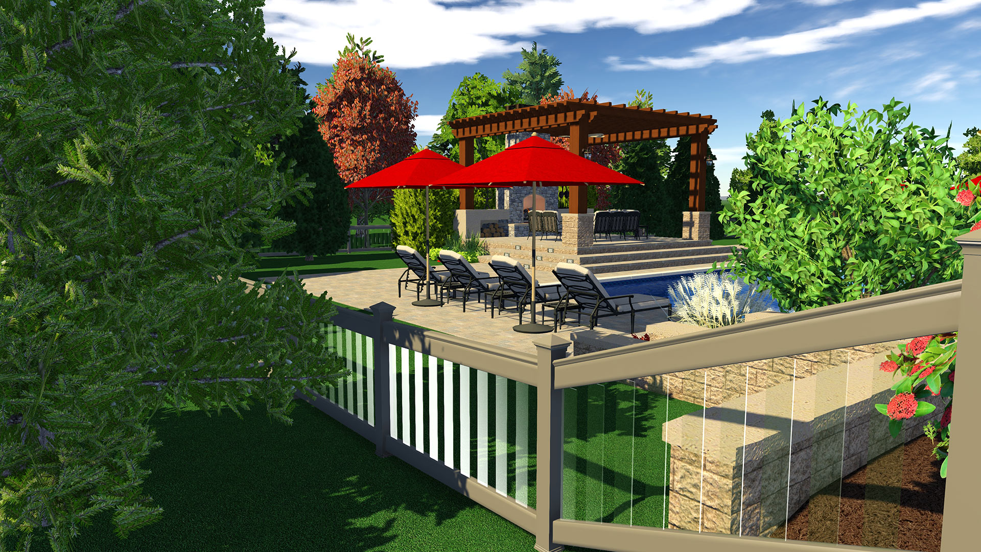 3d pool and landscaping design software features vip3d