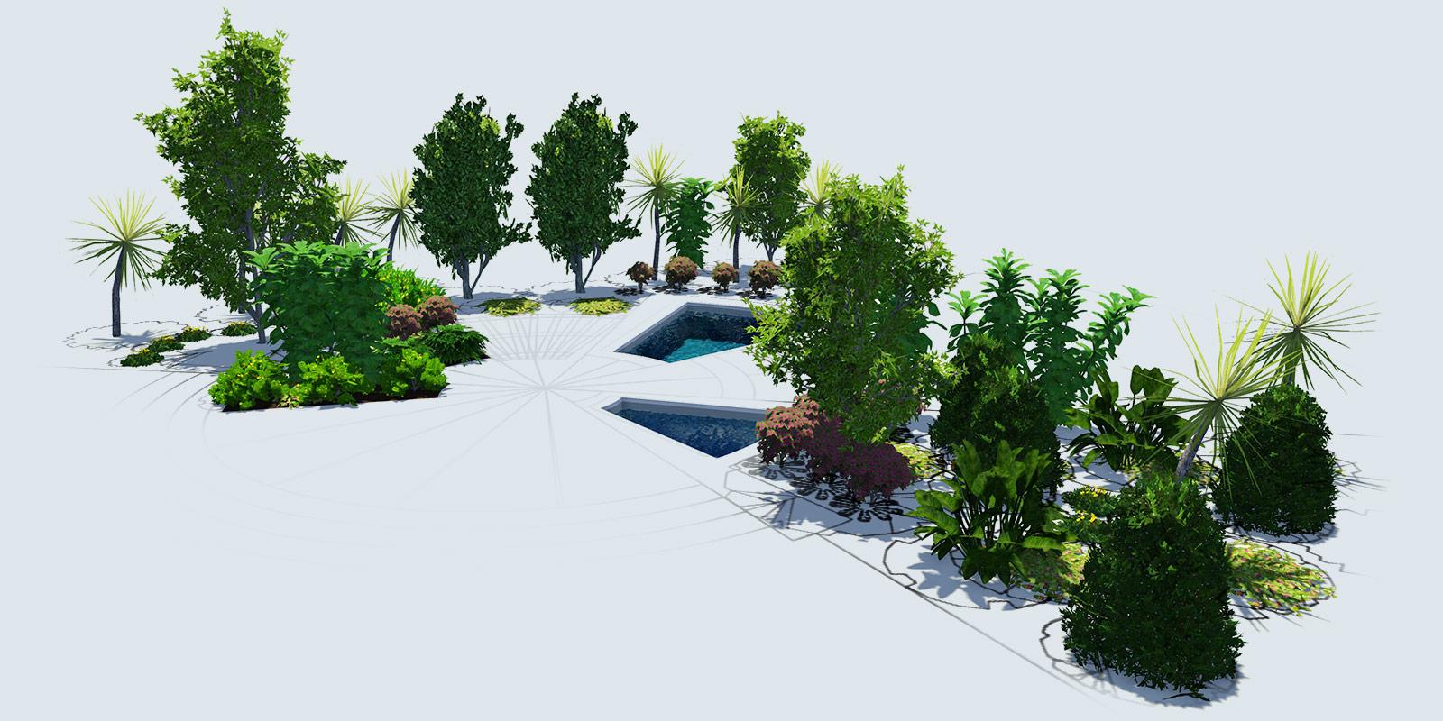 3D Landscape Design Software Plants and Trees - Vip3D