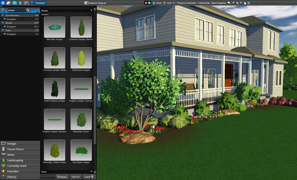 3D Landscape Design Tools Object Library