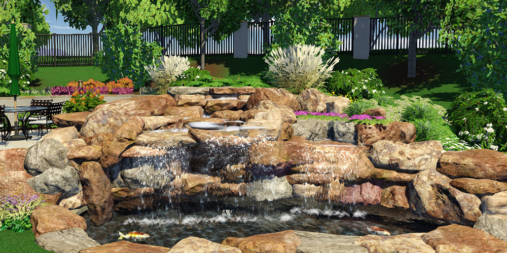 Realistic Rockwork 3D Pool Landscape Design Software