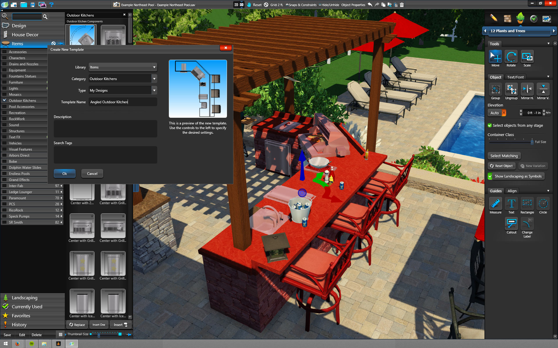 Pool, Landscape Garden Design Software Tools