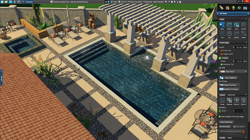 3d pool and landscaping design software overview vip3d for Pool studio 3d design