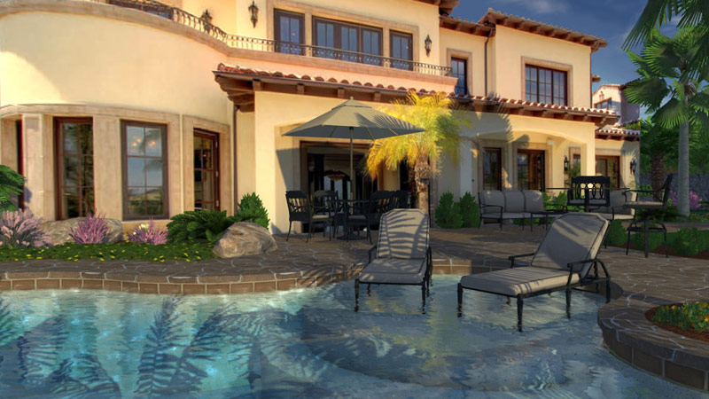 Add photos to your 3D pool and Landscape Design Software