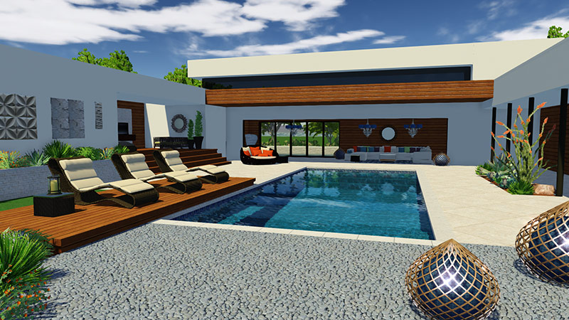 Pool Design Sketchup in Vip3D