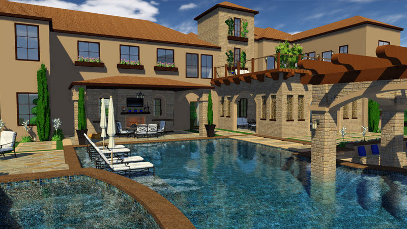 3D Swimming Pool Design Software Tuscan Estate