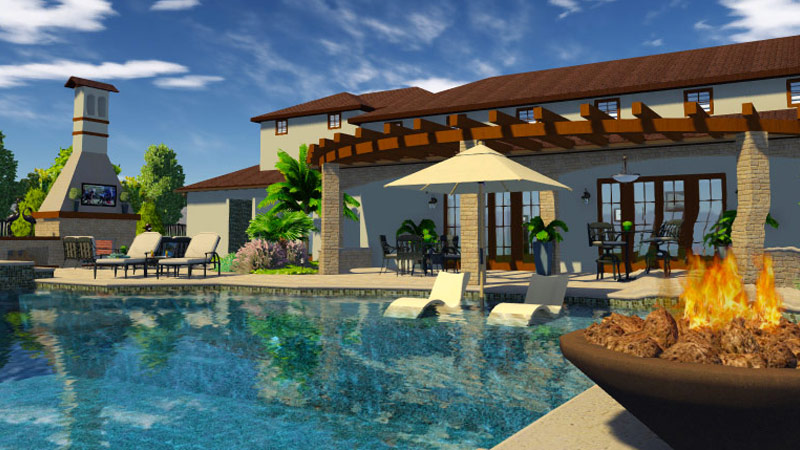 3D Swimming Pool Design Software California Residence