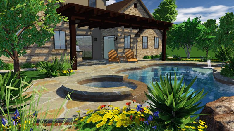 3d pool and landscaping design software features vip3d for 3d pool design