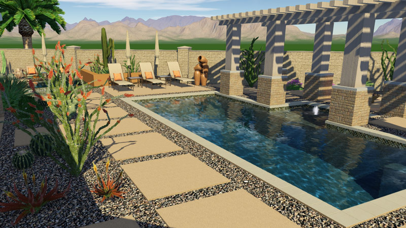Beau ... 3D Swimming Pool Design Software Southwest Example ...