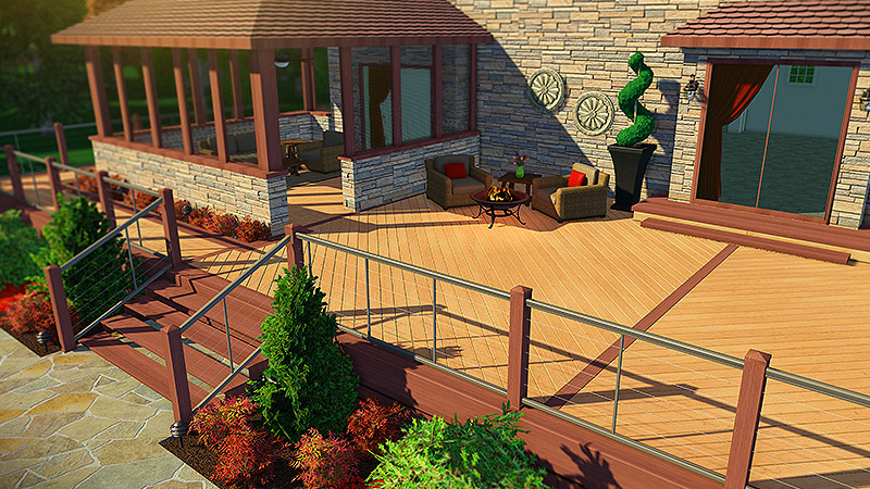 3d pool and landscaping design software features vip3d for Pool deck design software