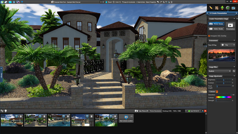 Pool and Landscape Design Software Photo Mode