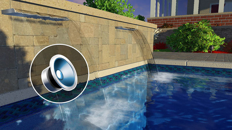 Pool and Landscape Design Software with 3D Sound
