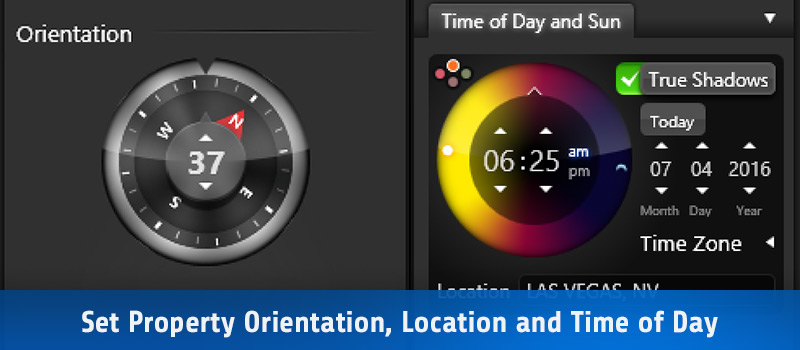 Set Property Orientation, Location and Time of Day
