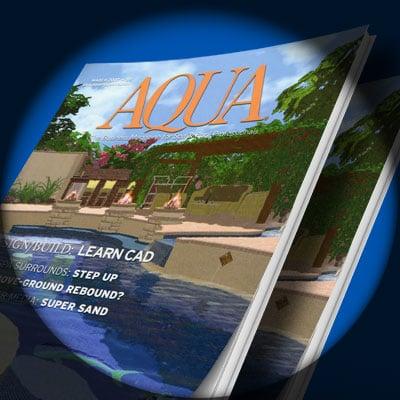 Pool Studio Featured on the Cover of Aqua Magazine